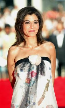 Lubna Azabal at the premiere of &quot;Exils&quot; during the 57th Cannes Film Festival.